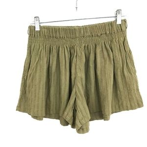 Scotch & Soda olive green shorts flare leg gauze